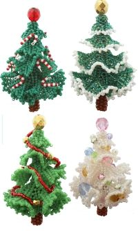 3D Beadwork Christmas Tree Ornament. // ♡ THESE ARE AMAZING!!! ♥A