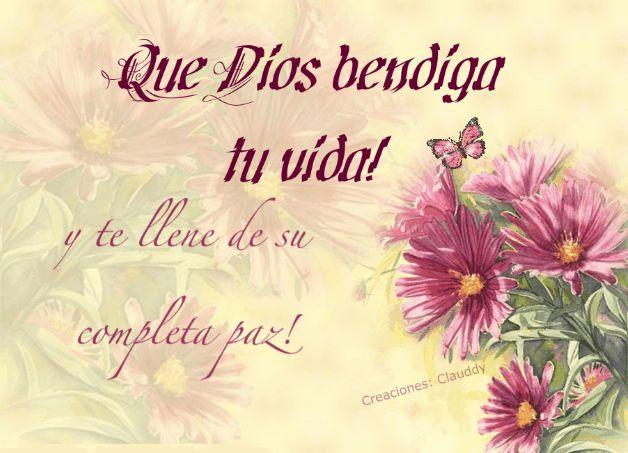 dios te llene de bendiciones | Que Dios bendiga tu vida y te llene de su completa paz! - Imagenes ...
