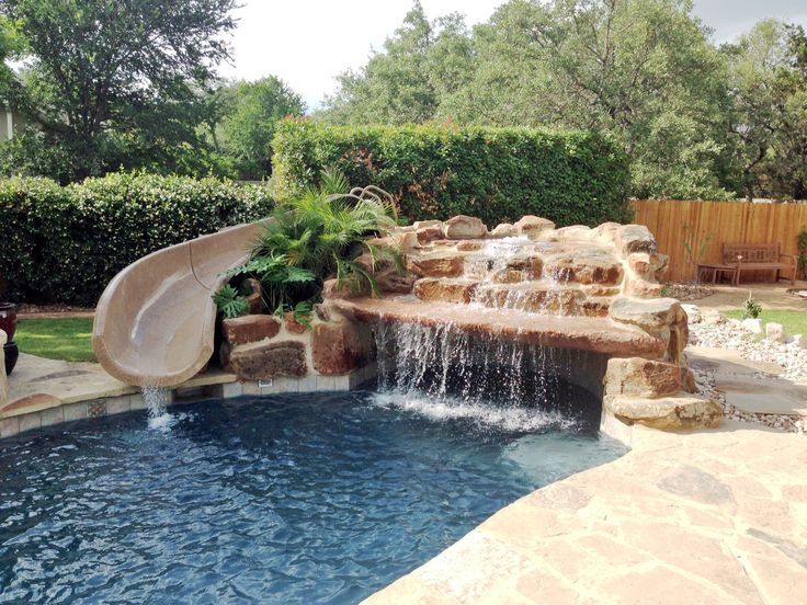 Westview pools in boerne texas 10 39 garden ride slide - How to build a swimming pool slide ...