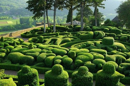 The Gardens at Marqueyssac, in the town of Vézac, France 🇫🇷