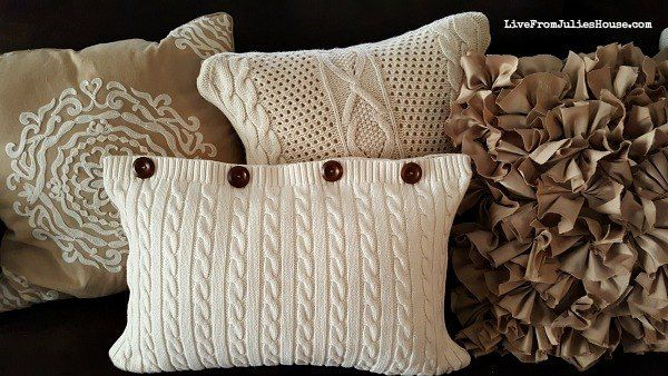 Thrift+Store+Sweater+Pillow+Covers+:tutorial: http://www.livefromjulieshouse.com/thrift-store-sweater-pillow-tutorial/