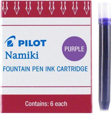 Pilot Namiki IC50 Fountain Pen Ink Cartridge, Purple, 6 Cartridges per Pack (69004)