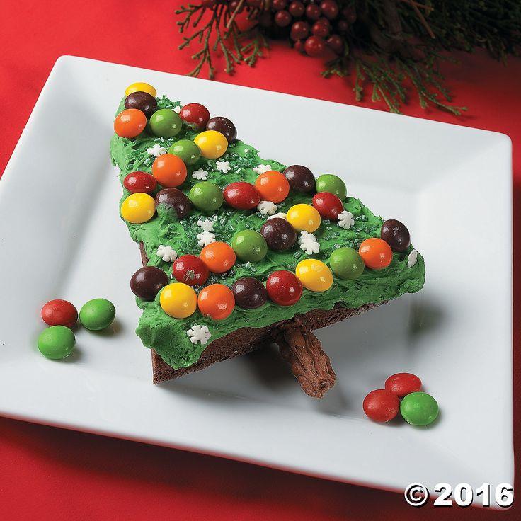 Christmas Tree Brownies Recipe