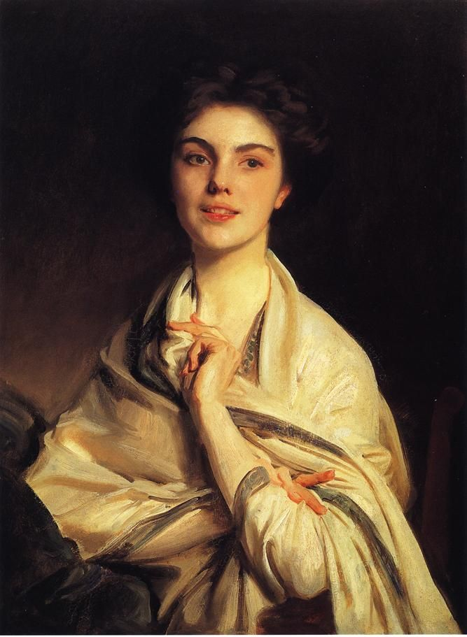 """""""The most charming girl in the world,"""" Sargent's niece, Rose-Marie Ormond. 1912, John Singer Sargent"""