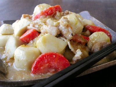 豚肉と里芋の甘味噌煮
