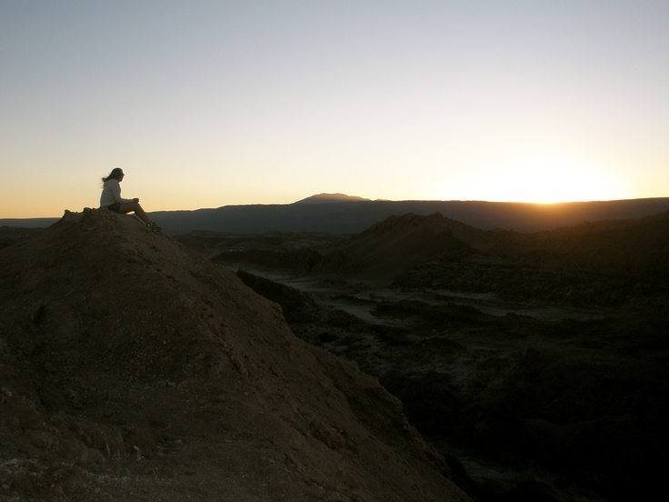 Seeing the sun sent at Valle de la Luna is a MUST!!  It is just outside San Pedro de Atacama in Northern Chile...bike/hike/climb to the top during the day and watch the amazing sunset in the evening!