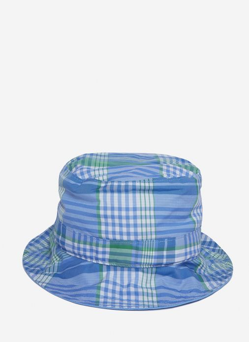 Reversible Check Bucket Hat In Blue