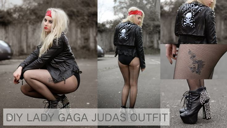 DIY // DIY LADY GAGA JUDAS OUTFIT FANCY DRESS / HALLOWEEN COSTUME - YouTube