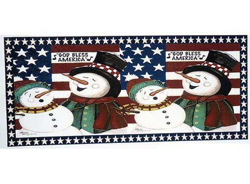 319 God Bless America Snow Carolers