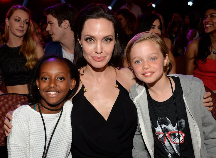 It feels like Angelina's kids are big today! This is Zahara and Shiloh; big brother Maddox has a separate pic in the gallery.