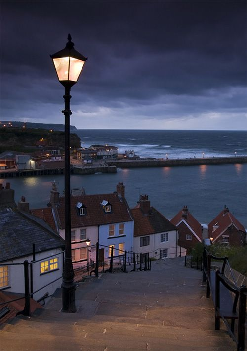 Village, Whitby, North Yorkshire, England