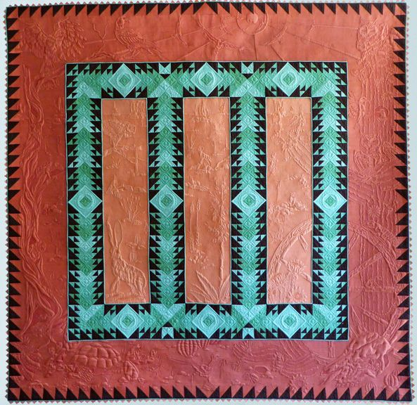 Into the Westward Sun by Bethanne Nemesh at the 2017 Mid-Altantic Quilt Festival