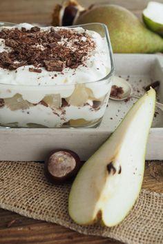 Herbstliches Birnen-Quark-Dessert mit Marzipan