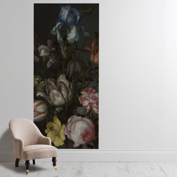 'Flowers in a Vase with Shells and Insects' - Buds & Blooms from £210  | Shop Cushions & Wall Murals at surfaceview.co.uk