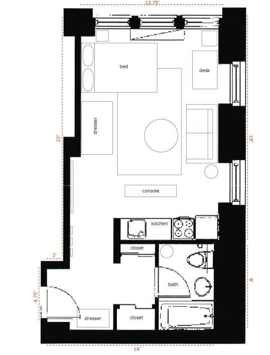 Studio Apartment Layout Plans 36 best studio apartment setup images on pinterest | studio apt