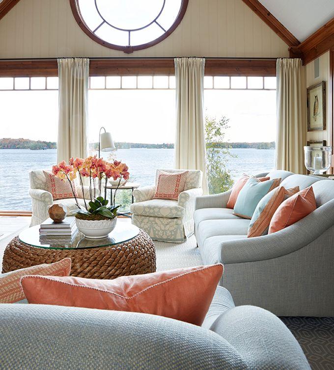 Best 25 living room turquoise ideas on pinterest family for Lake house living room ideas