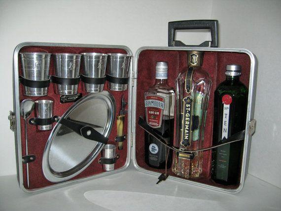 12 best Cocktail case images on Pinterest | Vintage luggage, Gifts ...