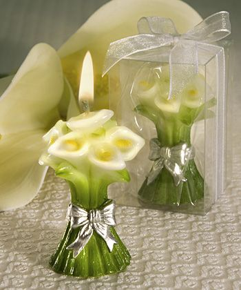 Calla Lily Design Candle Favors