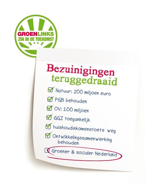 Lenteakkoord: pijn Rutte teruggedraaid, groene doorbraak en eerlijke kansen | GroenLinks Tweede Kamer