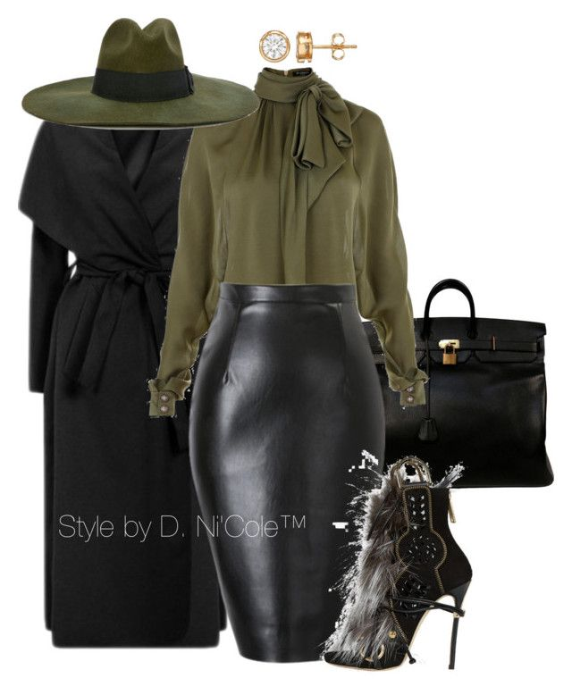 """""""Untitled #2999"""" by stylebydnicole ❤ liked on Polyvore featuring Hermès, Balmain, Diesel and Dsquared2"""