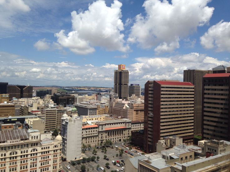 Skyline from the top of the Ansteys building in the Johannesburg CBD.