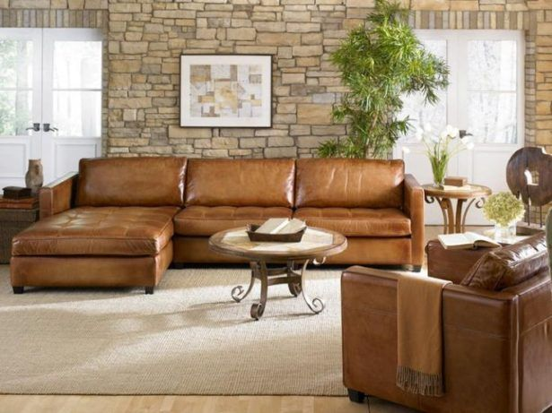 Living Room:Distressed Leather Sectional Distressed Leather Sectional Couch