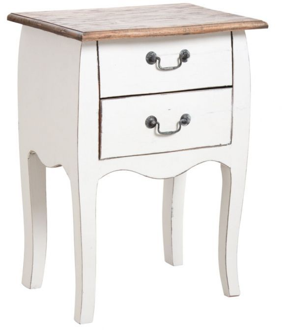 de tiroirs blancapartment ideas Table en en 2 nuit bois ymIf7bYg6v