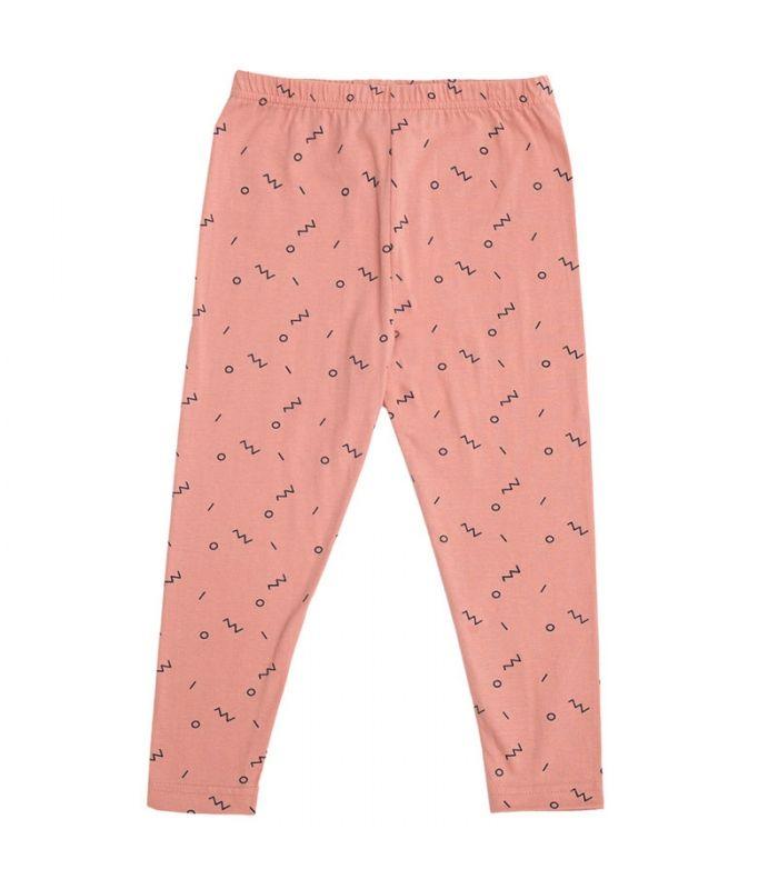 Leggings rosa de algodón orgánico. Fair Trade fashion for kids