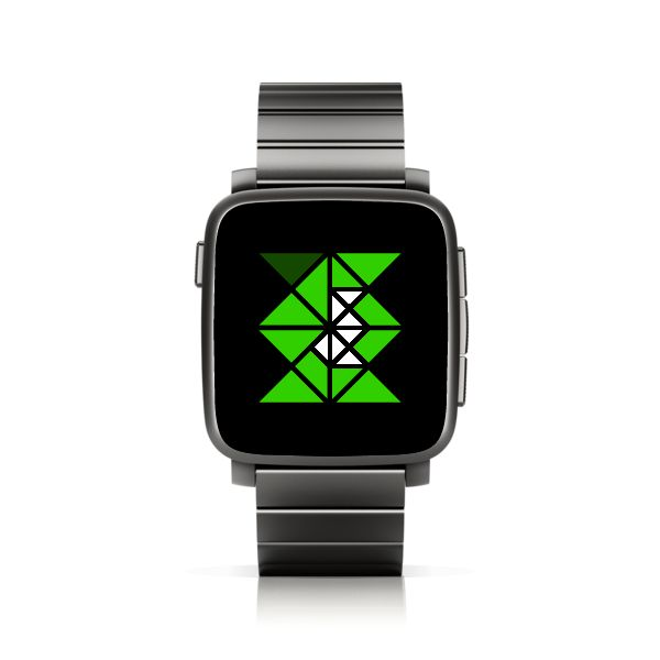 TTMMTRI for Pebble Time Steel #PebbleTime #PebbleTimeSteel #Pebble #watchface #ttmmaftertime