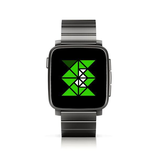 TTMMTRI for Pebble Time Steel #PebbleTime #PebbleTimeSteel #Pebble #watchface #ttmmaftertime