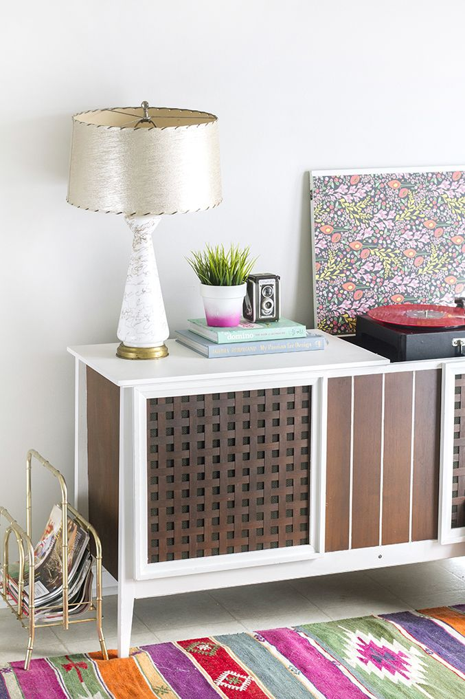 How To Paint A Retro Record Cabinet | Dream Green DIY | get it ...