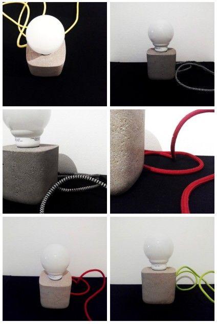 Lampara Velador / Escritorio de cemento concreto