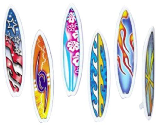 Oasis Supply 12 Count Surfboards Cake and Cupcake Toppers, Assorted - http://fitness-super-market.com/?product=oasis-supply-12-count-surfboards-cake-and-cupcake-toppers-assorted