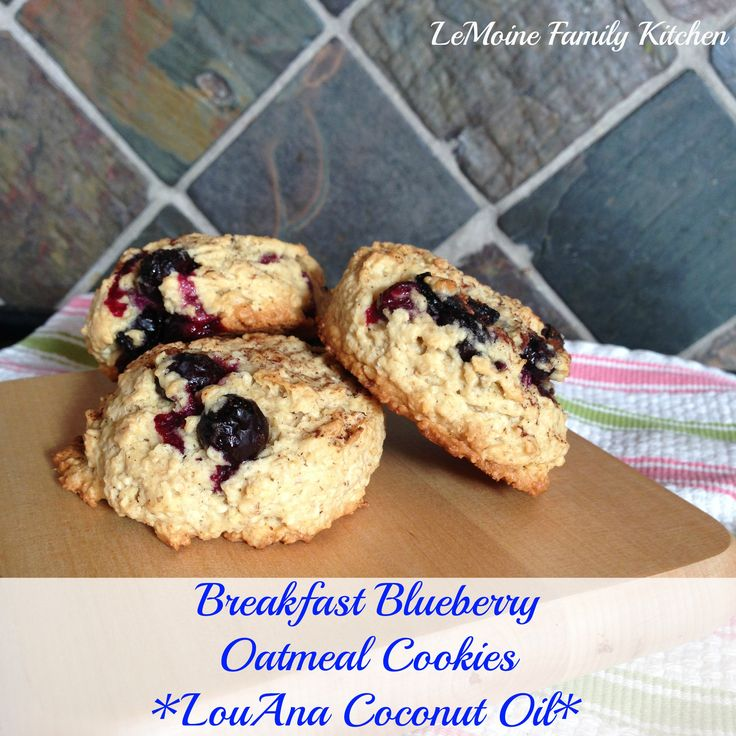 Breakfast Blueberry Oatmeal Cookie | Sweetened with natural maple syrup, coconut oil in place of butter, packed with oatmeal and fresh blueberries! The cookies stay nice and tall as they bake, tender on the inside and a little crispness on the outside. @anglemoine