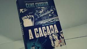"""Livro """"A Caçada"""" de Clive Cussler da série Isaac Bell. A editora Novo Conceito caprichou na capa com uma arte estilo """"old comics""""."""