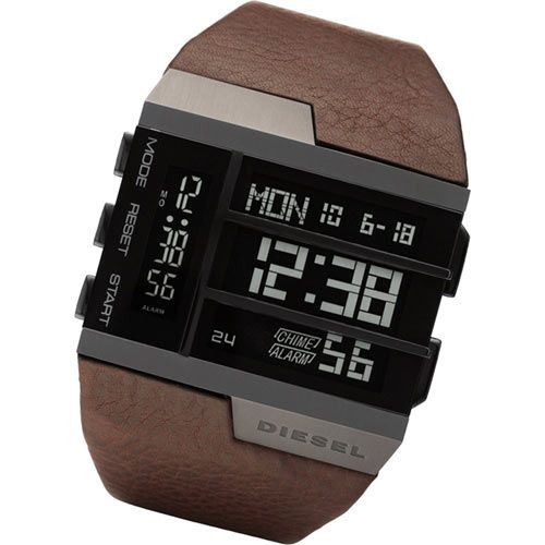 Men's Watch / Digital / Leather Strap