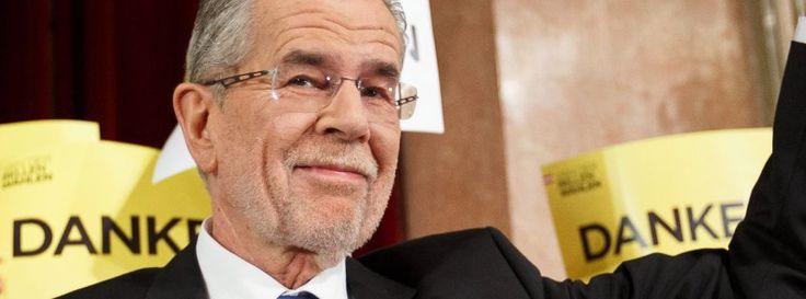 Der Grünenpolitiker Alexander Van der Bellen neuer Bundespräsident von Österreich