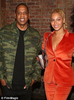 Sticky situation: A new unauthorised biography alleges that Beyonce and Jay Z had split for 'maybe a year'amid rumours the rapper was having an affair with Rihanna