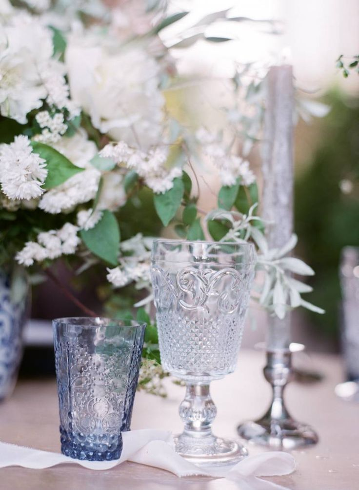 Delicate & sophisticated bridal inspiration in blues & greys via Magnolia Rouge