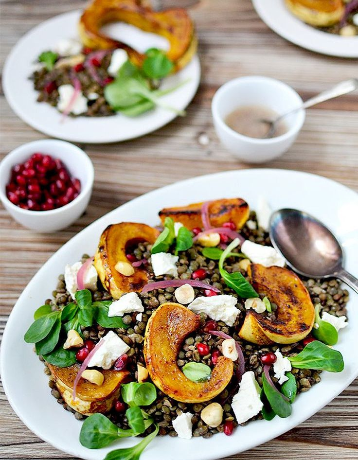 Salade d'hiver aux lentilles - Des salades d'hiver complètes qui changent de la…