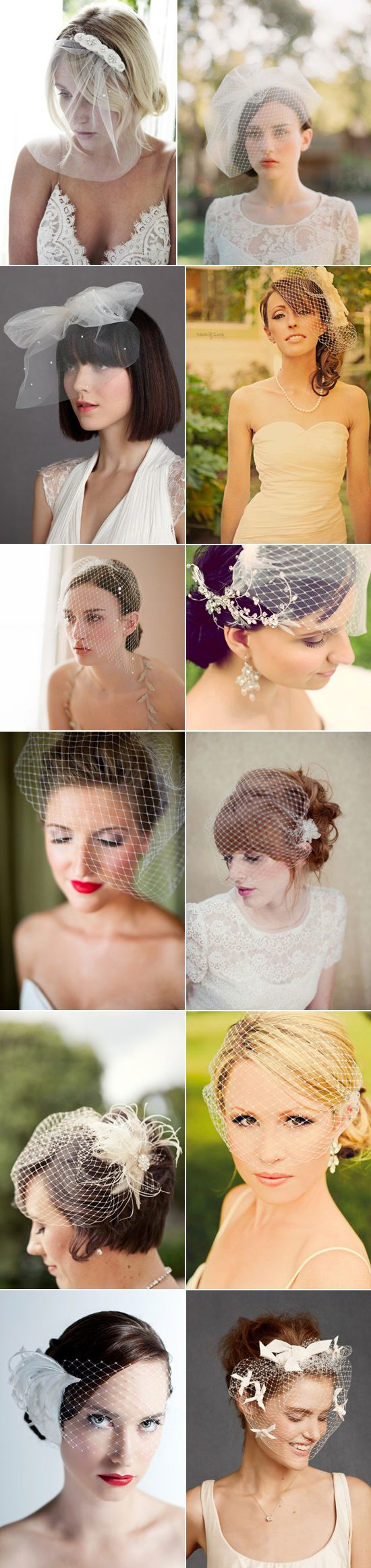What's In A Veil – Birdcage Veils polkadotbride.com I want my hair like the red head with the fringe!