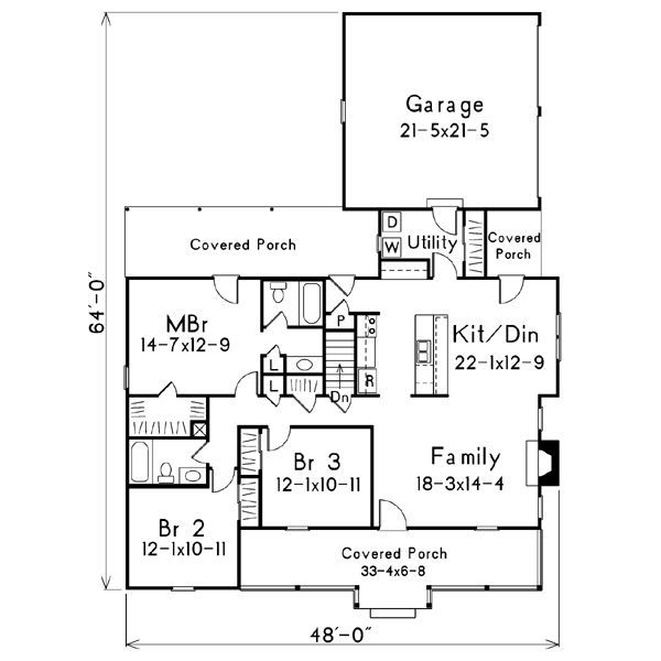 104 best House floor plans images on Pinterest | Small country ...