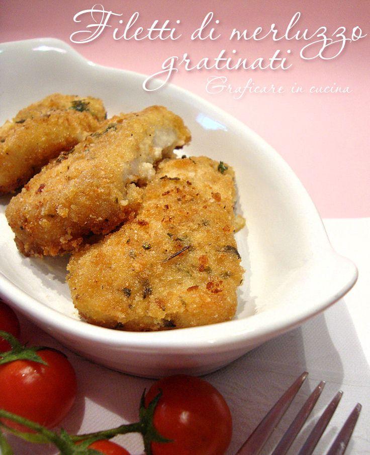 Filetti di merluzzo gratinati http://blog.giallozafferano.it/graficareincucina/filetti-di-merluzzo-gratinati/