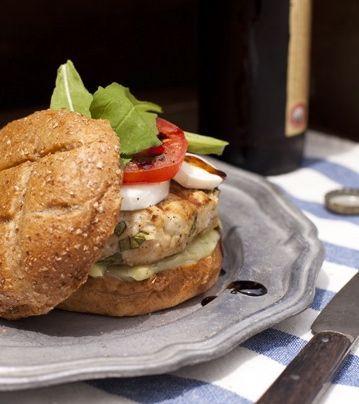 Main Dish: Caprese Turkey Burgers