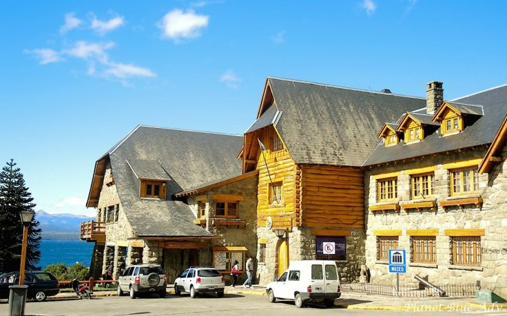 Alpine styled buildings in the centre of Bariloche