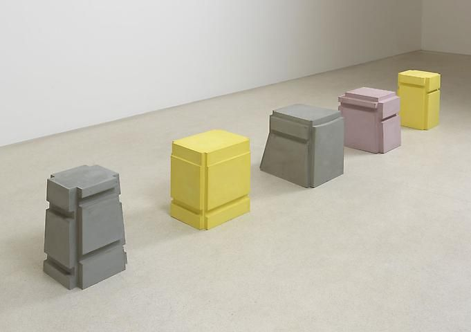 Rachel Whiteread @ Gagosian Gallery London :: I think these are a rife on Bruce Nauman's concrete chair casts...