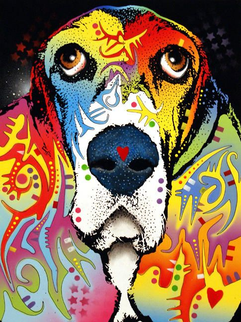 Basset Hound Painting by Dean Russo - Basset Hound Fine Art Prints and Posters for Sale