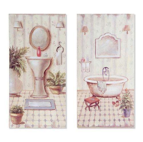 176 best images about decoraci n original tatamba on - Cuadros para banos ...