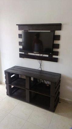 Des idées de meuble tv en palette   1001 palette