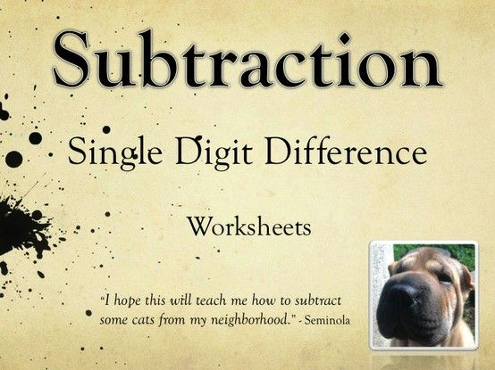 1000+ ideas about Subtraction Worksheets on Pinterest | Worksheets ...